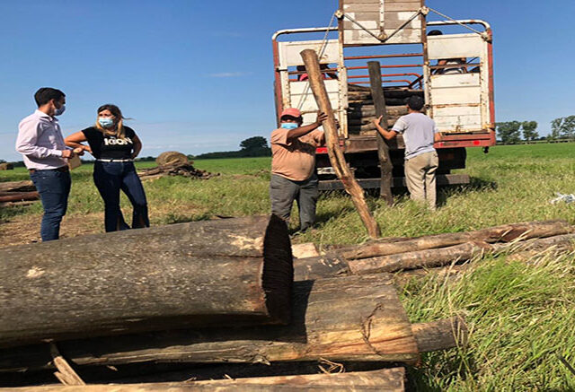Ischilín: equipamiento para 26 productores afectados por incendios